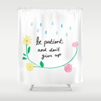motivational Shower Curtains featuring Motivational thoughts by Saskdraws