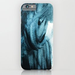 1 2 3 1 : blue abstract iPhone Case