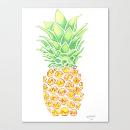 Watercolor Pineapple Canvas Print