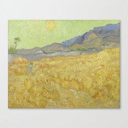 Vincent Van Gogh - Wheatfield With A Reaper Canvas Print