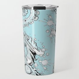 Cephalopodic Swipe (linework) Travel Mug