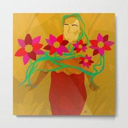 Finding My Inner Flower Power Metal Print
