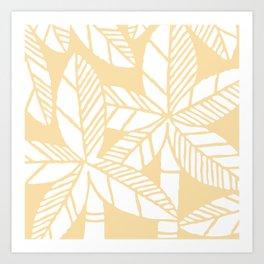 Tropical Palm Tree Composition 731 Cream Yellow Art Print