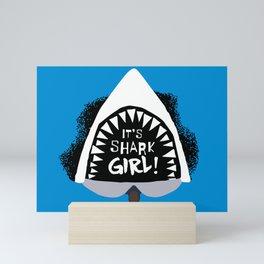SHARK GIRL Mini Art Print