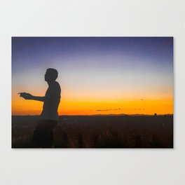 Sunset on a Hill 2 Canvas Print