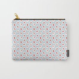 Shabby Chic Florals on Blue Carry-All Pouch