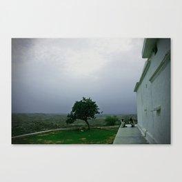 Sadhus on a hill Canvas Print
