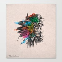 indian Canvas Prints featuring Indian  by mark ashkenazi