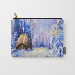 Winter in the village Carry-All Pouch