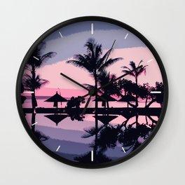 Tropical Summer Silhouette Wall Clock