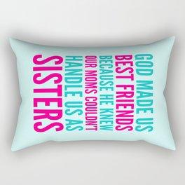GOD MADE US BEST FRIENDS BECAUSE (TEAL) Rectangular Pillow