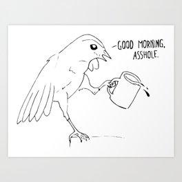 Good Morning Bird Art Print