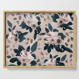 FLORAL PATTERN DS Serving Tray