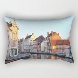 Belgium, City Canal 4 Rectangular Pillow