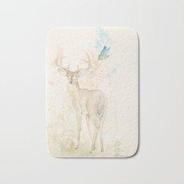 Deer and butterfly Bath Mat