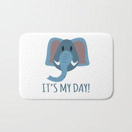 Boy Birthday Elephant Nature Wildlife Kids Children Party Celebration gift idea Bath Mat