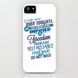 Nine Noble Virtues - Freedom iPhone Case