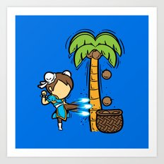 Part Time Job - Coconut Farm Art Print