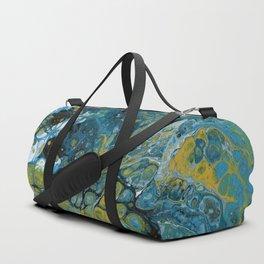 Teal Waves Duffle Bag