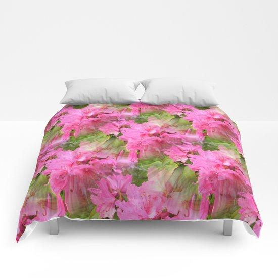 Rhodies in Pink... Comforters