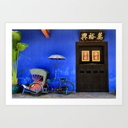 The Blue Mansion in Penang, Malaysia Art Print