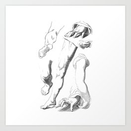 Sketches of hands and legs Art Print