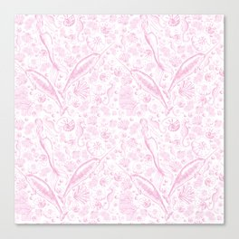 Mermaid Toile - Baby Pink Canvas Print