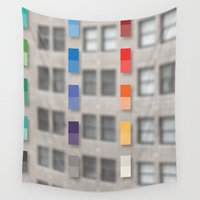 the office Wall Tapestries featuring new america office one by pixel404