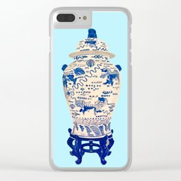 Tsochtkes and Ginger Jar Clear iPhone Case