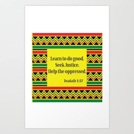 Freedom & Justice Art Print