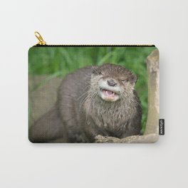 Smiling Otter Carry-All Pouch