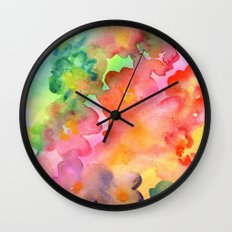 Spring Colours Wall Clock