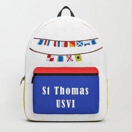St Thomas Nautical Flags Backpack