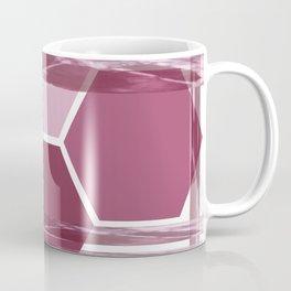 Burgundy Geometric Coffee Mug