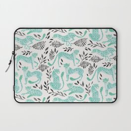 Cheetah Collection – Mint & Black Palette Laptop Sleeve