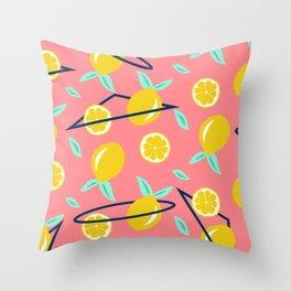 Lemons party #society6 #decor #buyart Throw Pillow