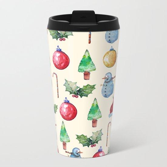 Christmas!! Pattern! (Holidays) Metal Travel Mug