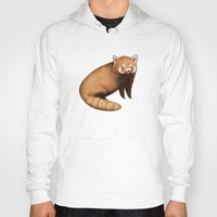 red panda Hoodies featuring Red Panda by Sophie Corrigan