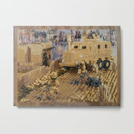 Clearing the Road, Kandahar Province, Afghanistan Metal Print