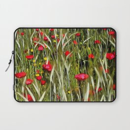 Red Poppies In A Cornfield Laptop Sleeve