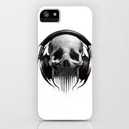 Alien Skull Listening to Music on Pro Beats iPhone Case