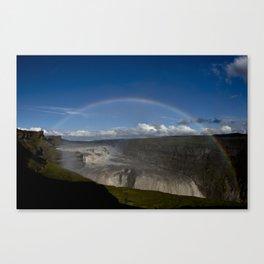 Iceland Rainbow Canvas Print