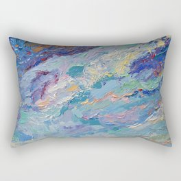 Summer Clouds - impressionism abstract summer nature landscape by Adriana Dziuba Rectangular Pillow