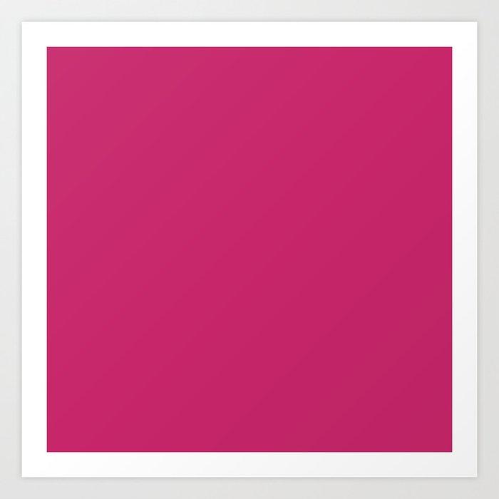 Fuchsia Ultra Pink Wall Decor,  Room Decor, Vanity Wall Art, Bathroom, Gift for Her Art Print