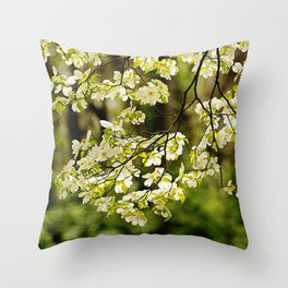 Painted Dogwoods Throw Pillow