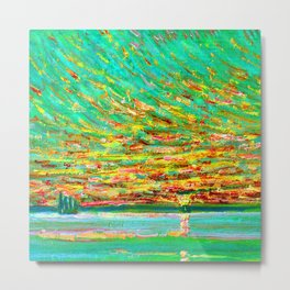 Childe Hassam Sunset Sky Metal Print