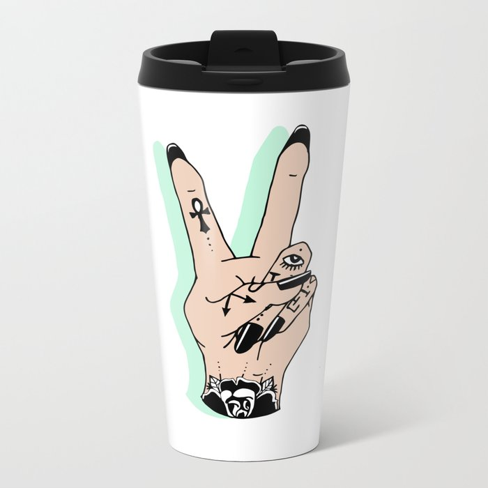 // V IS FOR VICTORY // Metal Travel Mug