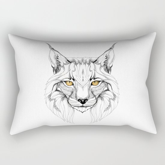 Lynx pardinus (black stroke version for t-shirts) Rectangular Pillow