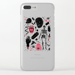 Whole Lotta Horror Clear iPhone Case