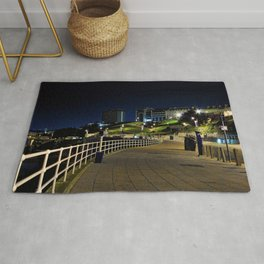View of Plymouth Hoe at Night / Early Morning Rug